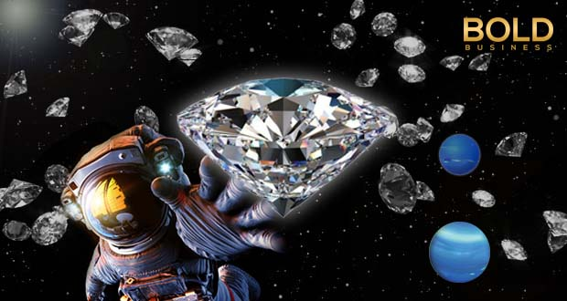A diamond rain, an astronaut, and planets