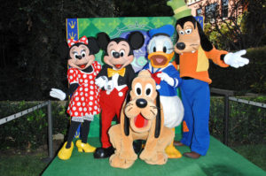 Minnie, Mickie, Donald, Goofy and Pluto
