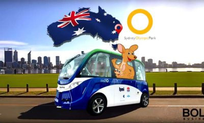 Driverless Bus in Sydney Olympic Park