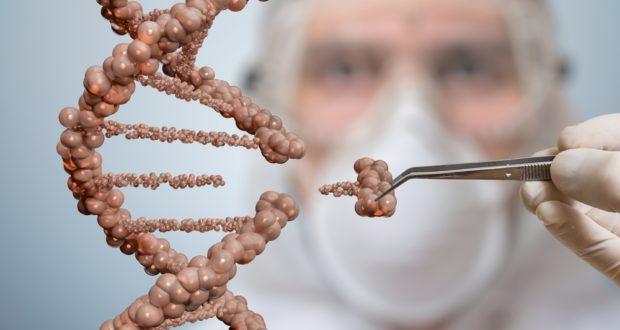 Scientist replacing bits of DNA