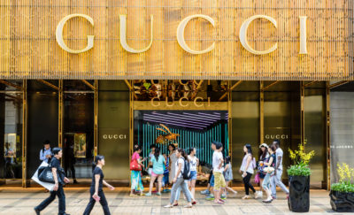 Gucci Storefront in Hong Kong
