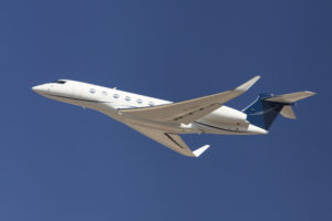 Gulfstream Plane in Air