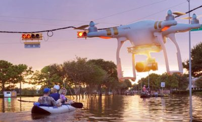 Houston Flood and drones