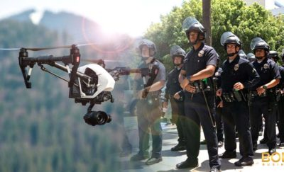 swat teams watches drone flight