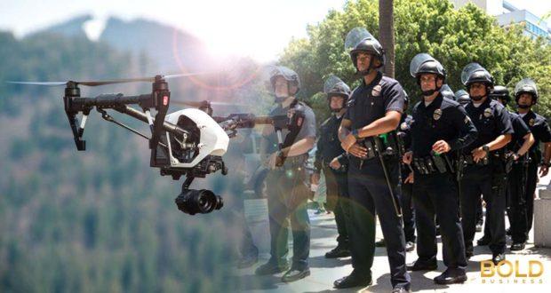 swat teams watches drone flight