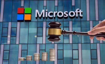 Microsoft, gavel, money