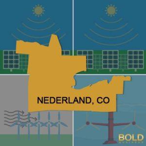 Map of Nederland Co, Colorado