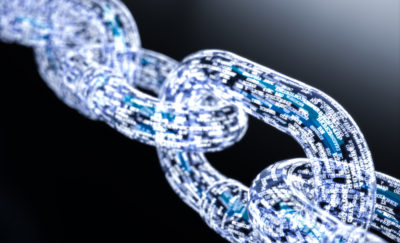 futuristic chain links