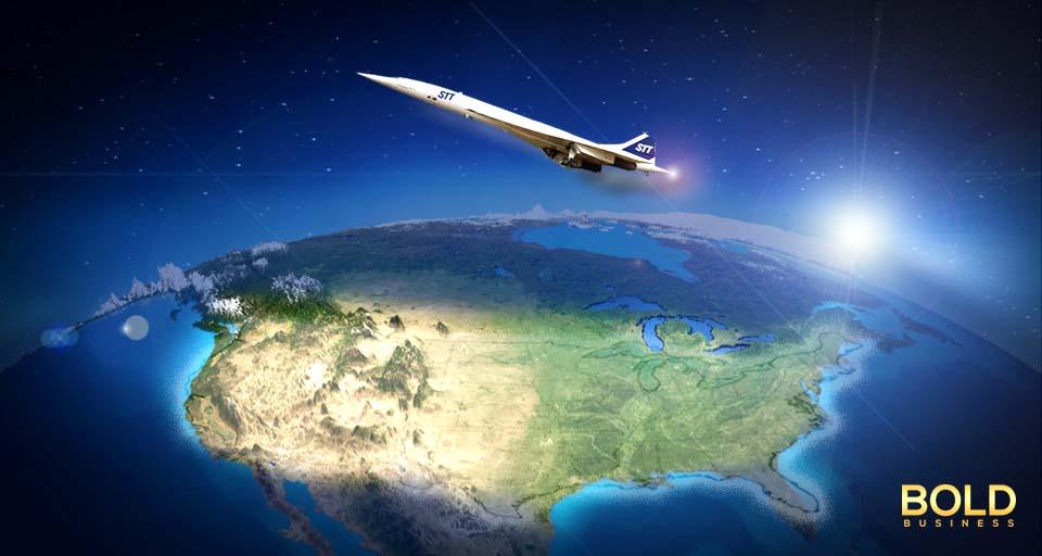 Supercsonic Jet over North America