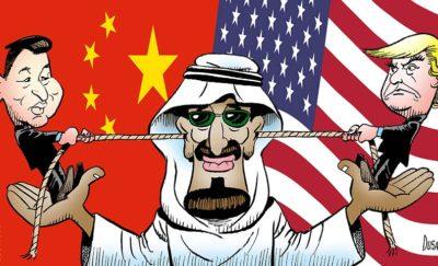 Trump Xi Salman