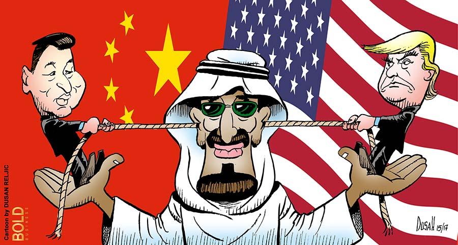 Xi and Trump play tug of war with Salman