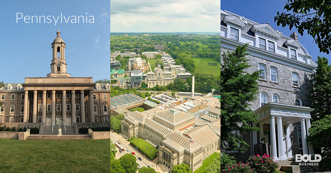 Pennsylvania is part of Bold Business' list of states ranked by education quality