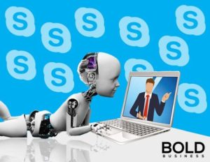 Robot learning from Skype - AI and Facial Recognition