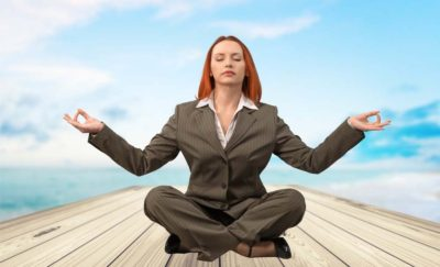 A Woman Practicing Mindfulness for Business