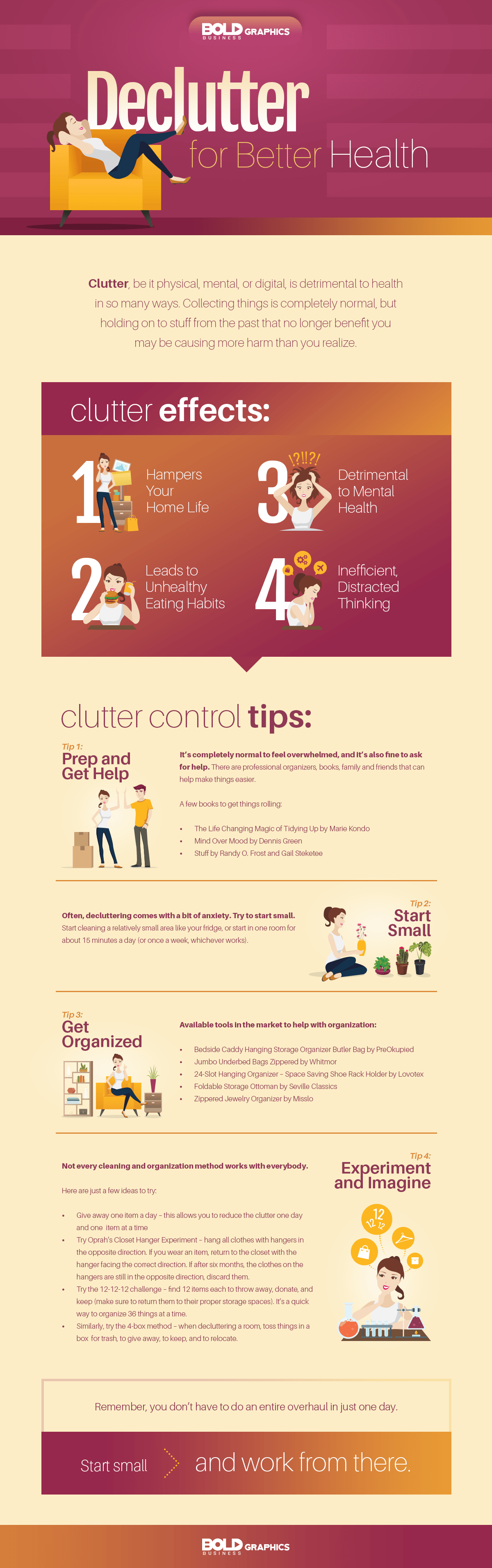 decluttering,declutter definition,declutter checklist,clutter effects,clutter definition,clutter control tips,declutter for better health infographic
