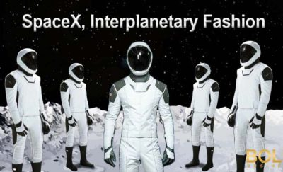 spacex new space suits modelled on the moon