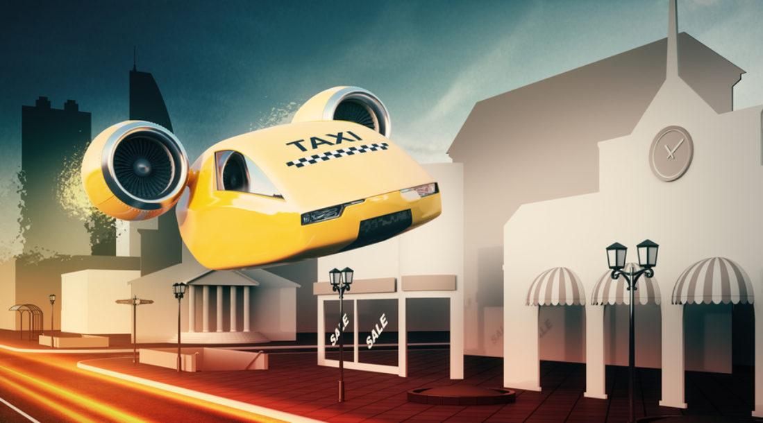 Autonomous Air Taxi Illustation