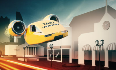 Autonomous Air Taxi Illustation