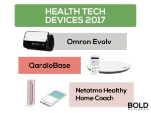 Pictures of health tech devices.