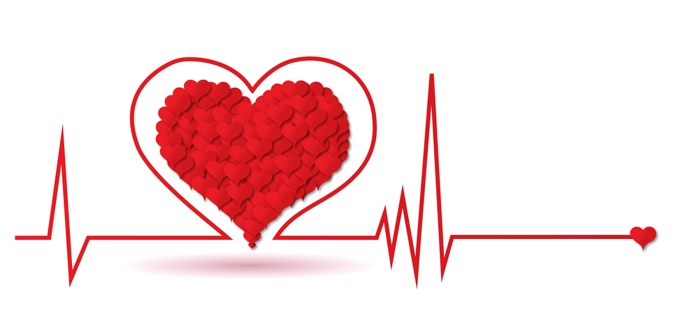 Heart monitor chart.