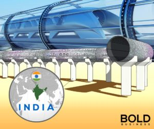 Hyperloop and a map of India.