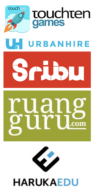 A number of logos of Indonesian businesses