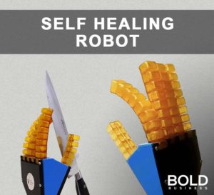 Self Healing Robots with Knife Cuts and Heal Itself