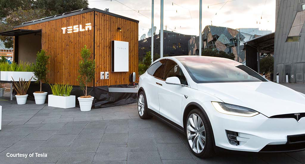 Tesla X is powered by the tiny house it hauls