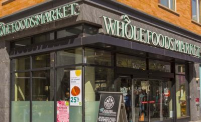 a photo of a Whole Foods storefront amid the news about the Amazon Acquisition of Whole Foods