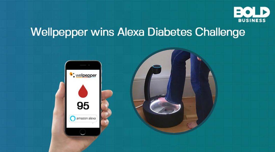 Wellpepper app, Smart phone and a footbath
