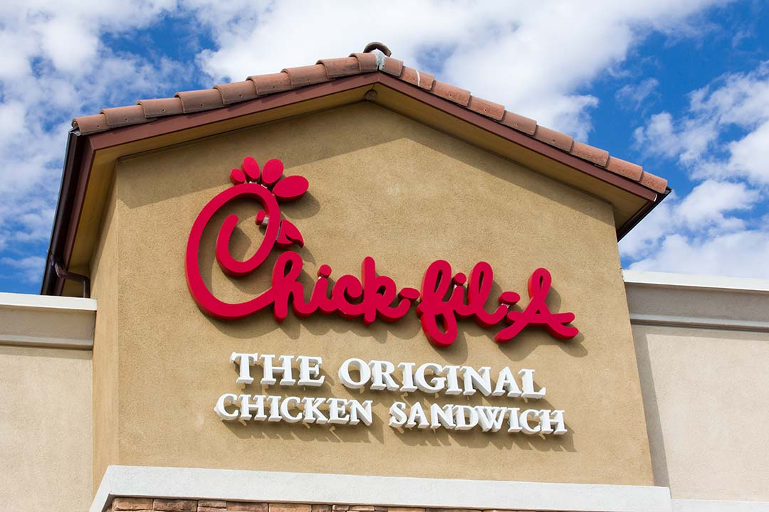 Chick-fil-A growth in Franchise, a sign outside one of their stores