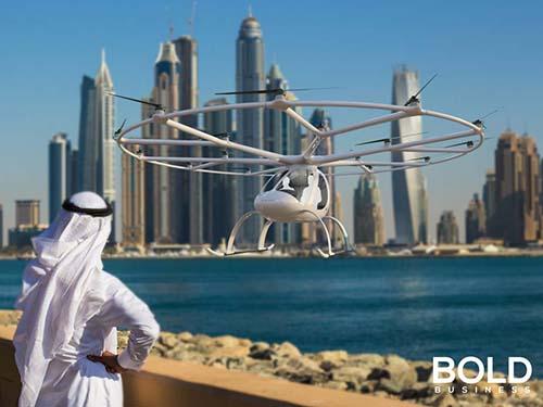 Dubai and a drone
