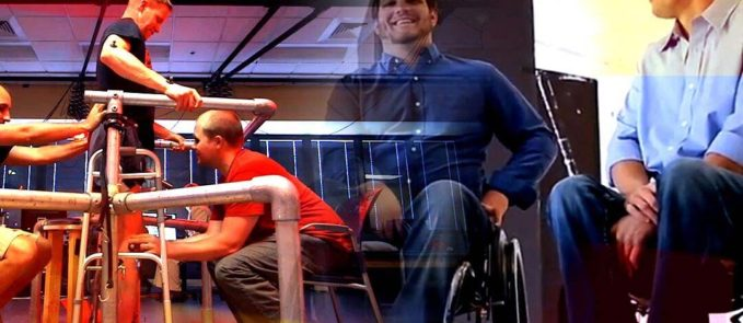 People in therapy for spinal cord injuries