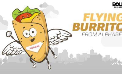 cartoon of a burrito flying with wings