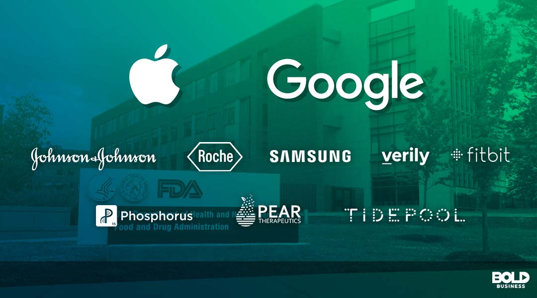 logos of companies working for the digital health innovation action plan