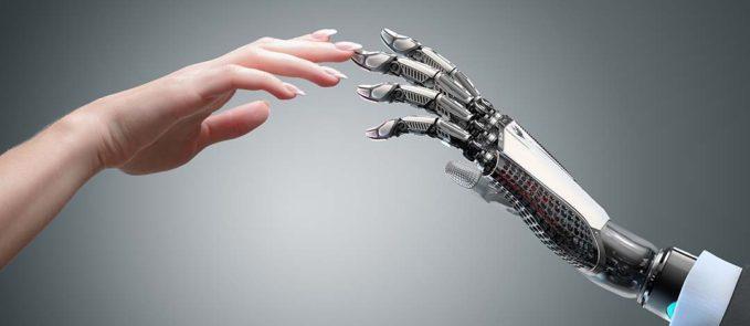 Humand hand and Robot hand