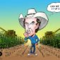 Kimbal Musk in a corn field.