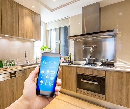 Smart phone navigating the future of smart kitchen