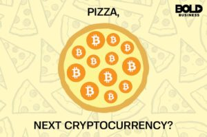 Pizza with Bitcoin Pepperoni