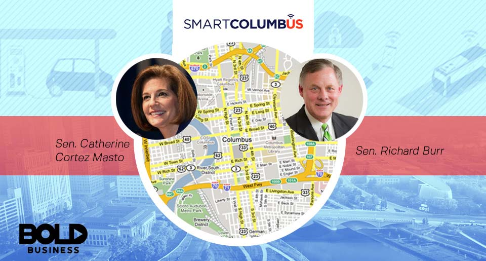 Map of Columbus and 2 Senators