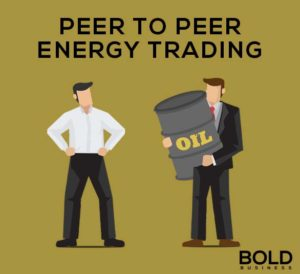 Two guys trading an oil barrel.