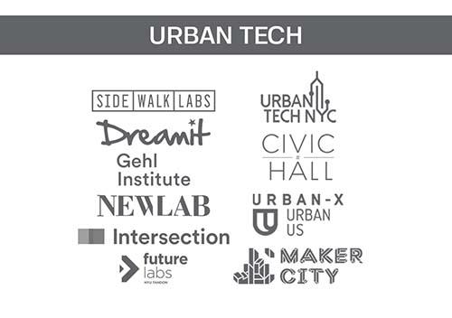 Logos of companies in Urban Tech