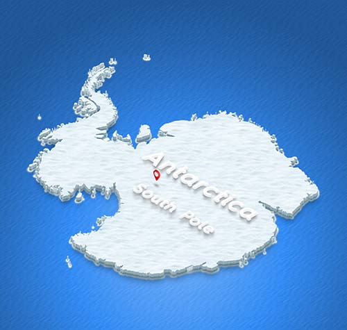 South Pole Energy Challenge - Map of South Pole