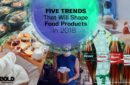 Montage of food trends for 2018