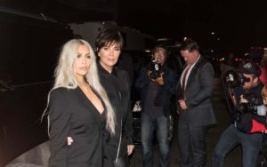 Kim Kardashian and Caitlin Jenner t Alexander Wang Fashion Show