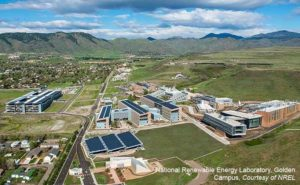 Aerial view of NREL, Golden, CO