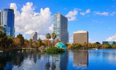 Orlando from Lake Eola, florida automated vehicles will soon be tested