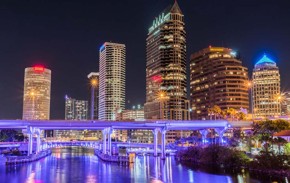 a photo of the city of Tampa Bay, Florida, amid the topic of Flower Turbines