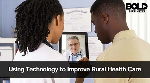 Nurse, Patient, Doctor on conference call - a picture of telemedicine in rural areas