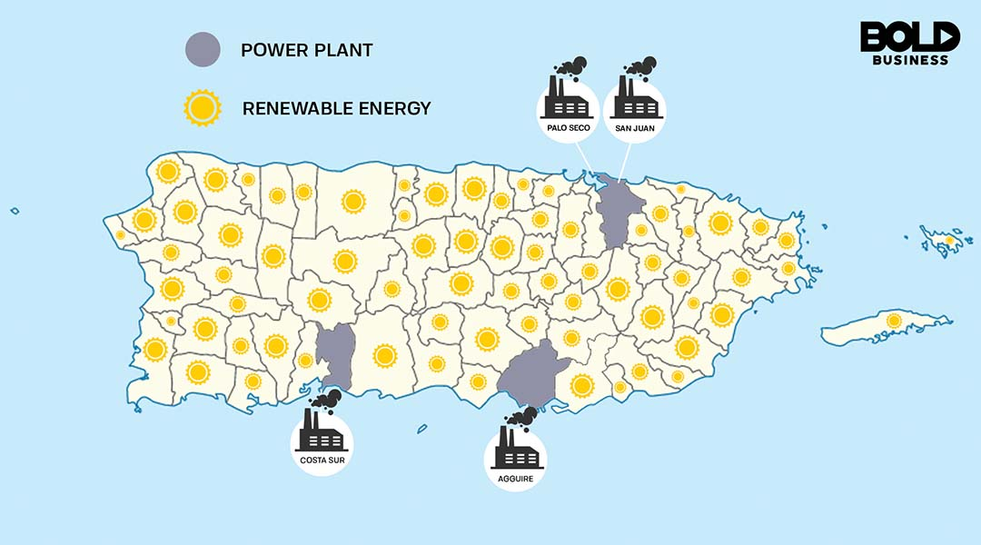 Puerto Rico Map: Renewable Energy Using Microgrids